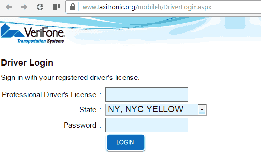 verifone driver login